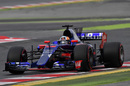 Carlos Sainz at speed in the Toro Rosso