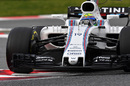 Felipe Massa behind the wheel of the Williams