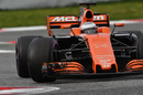 Fernando Alonso evaluates ultra-soft tyres