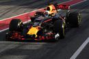 Daniel Ricciardo makes his way down the pit lane