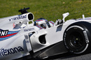 Lance Stroll at speed in the Williams