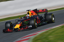 Daniel Ricciardo in the Red Bull RB13 with aero paiant