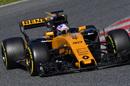 Jolyon Palmer drives out of a corner