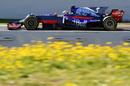 Carlos Sainz on track in the Toro Rosso