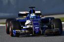 Marcus Ericsson tests super-soft tyres
