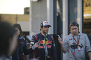 Carlos Sainz answers questions from media