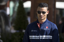 Pascal Wehrlein arrives at paddock