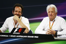 Matteo Bonciani and Charlie Whiting in the press conference