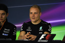 Valtteri Bottas speaks to the press at the Thursday press conference