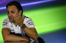 Felipe Massa looks on during the press conference