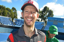 Romain Grosjean looks relaxed in Melbourne