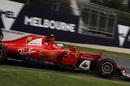 Kimi Raikkonen on a supersoft tyre run