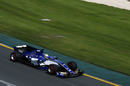 Marcus Ericsson works hard to keep his pace