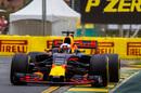 Daniel Ricciardo putting the soft tyres