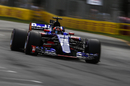 Daniil Kvyat on track in the Toro Rosso