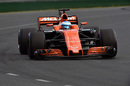 Fernando Alonso behind the wheel of the McLaren