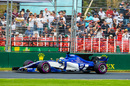 Marcus Ericsson works hard to keep its pace