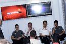 Stoffel Vandoorne, Eric Boullier, Yusuke Hasegawa and Fernando Alonso speak to media after qualifying