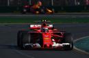 Kimi Raikkonen rounds the corner