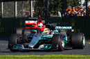 Lewis Hamilton pushes hard