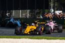 Nico Hulkenberg leads Esteban Ocon