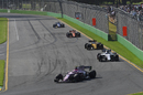Esteban Ocon works hard to keep pace