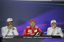 Top three drivers in the press conference after the race