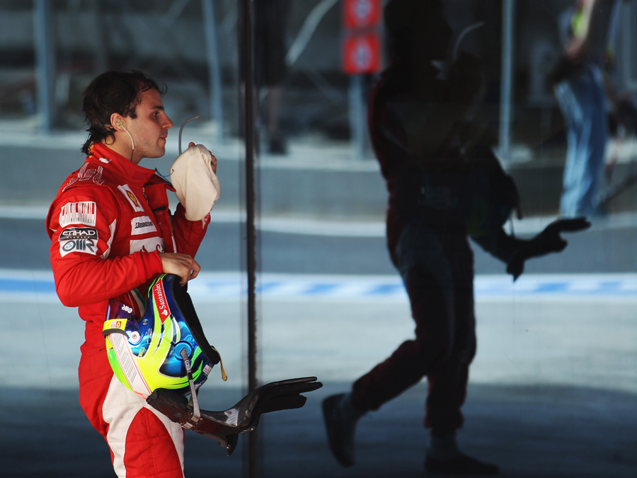 A weary Felipe Massa after his disappointing seventh place