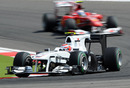 Kamui Kobayashi on his way to his and his team's first points of the season