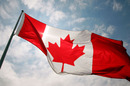 The Canadian flag flies on race weekend