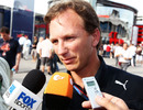 Christian Horner faces the press