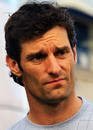 Mark Webber looks unimpressed after the race