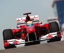 Felipe Massa leaves the pits