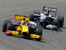 Robert Kubica leads Michael Schumacher on track, Turkish Grand Prix, May 30, 2010