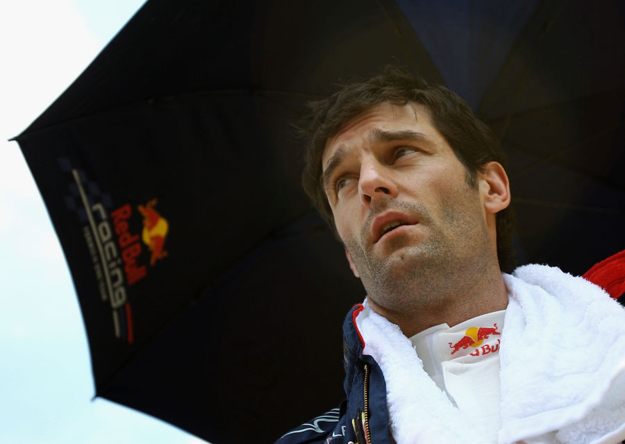 Mark Webber ahead of the start of the race