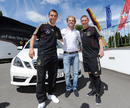 Nico Rosberg joins the German football team at its training camp