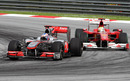 Jenson Button holds off Felipe Massa's Ferrari