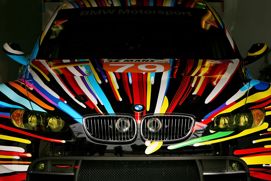 A BMW M3 painted by artist Jeff Koons that will take part in this year's Le Mans 24 Hours