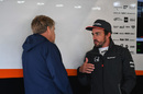 Fernando Alonso in the garage