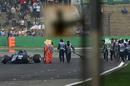 Antonio Giovinazzi crashes in Q1