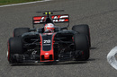 Kevin Magnussen behind the wheel of the Haas