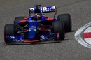 Daniil Kvyat rounds the corner