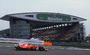 Kimi Raikkonen on track with super-soft tyres