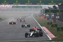 Lewis Hamilton leads the field
