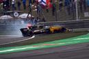 Jolyon Palmer spins after putting super-soft tyres