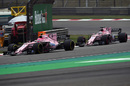 Esteban Ocon works hard to keep his position