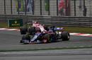 Daniil Kvyat rounds a corner