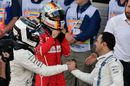 Valtteri Bottas and Felipe Massa celebrate in parc ferme