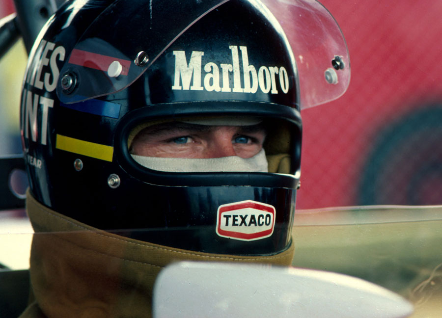James Hunt ahead of the race
