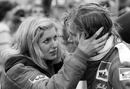 James Hunt shares a moment with girlfriend Jane Birbeck